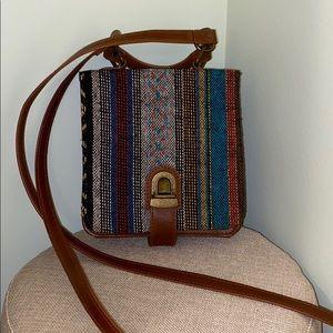 Boho Leather Crossbody Bag